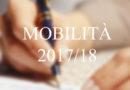 AVVIATE LE OPERAZIONI DI MOBILITÀ 2017/2018
