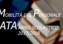 MOBILITÀ DEL PERSONALE ATA ANNO SCOLASTICO 2017/2018