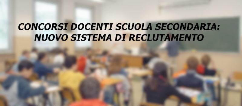 CONCORSI DOCENTI SCUOLA SECONDARIA