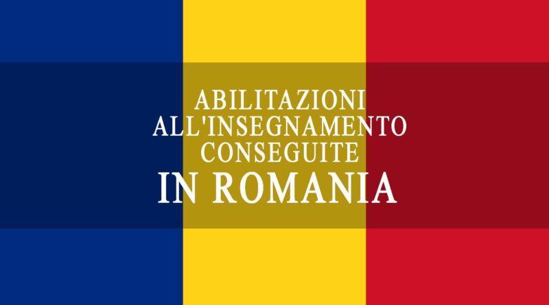 Abilitazioni all'insegnamento conseguite in Romania