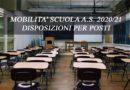 MOBILITA' SCUOLA A.S. 2020