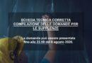 SCHEDA TECNICA CORRETTA COMPILAZIONE DELLE DOMANDE PER LE SUPPLENZE