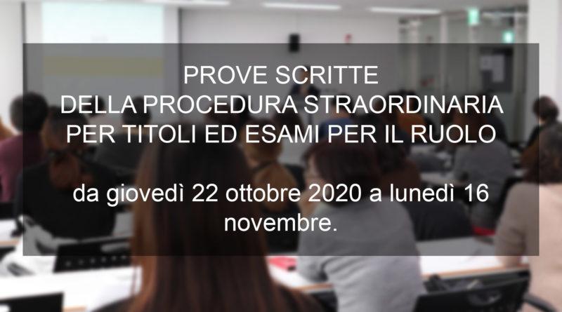 PROVE SCRITTE DELLA PROCEDURA STRAORDINARIA