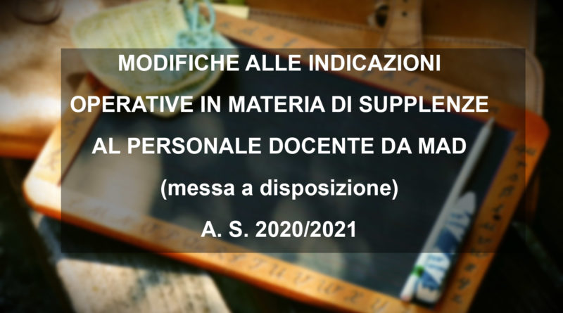 SUPPLENZE AL PERSONALE DOCENTE