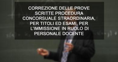 IMMISSIONE IN RUOLO DI PERSONALE DOCENTE