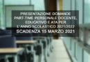 DOMANDE PART-TIME PERSONALE DOCENTE
