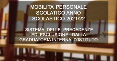 MOBILITA' PERSONALE SCOLATICO