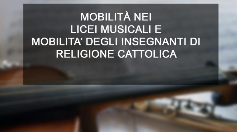 MOBILITÀ NEI LICEI MUSICALI