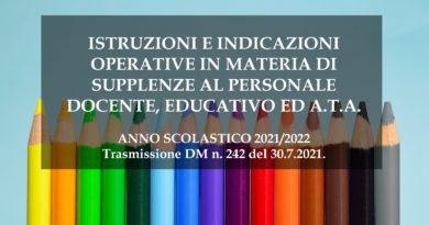 SUPPLENZE AL PERSONALE DOCENTE EDUCATIVO