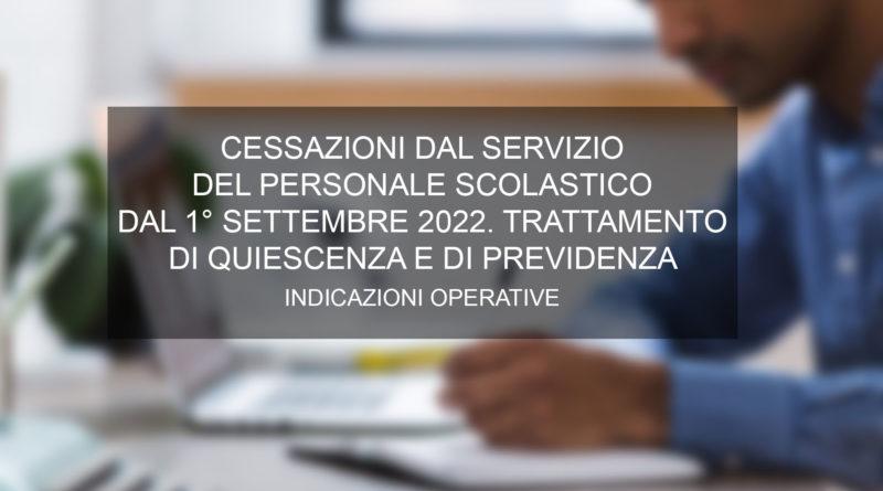 CESSAZIONI DAL SERVIZIO DEL PERSONALE